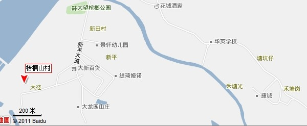 深圳梧桐山地图