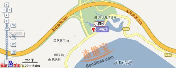 深圳海洋世界交通地图