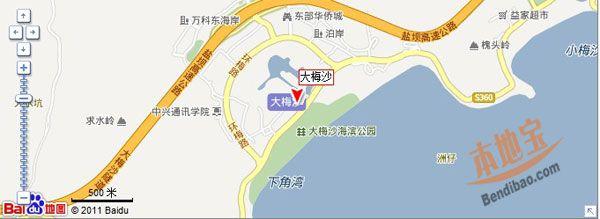 深圳大梅沙交通地图