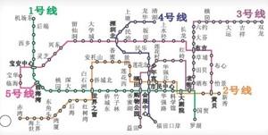 2011年深圳地铁运营线路图