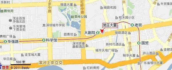 深圳地王大厦地图