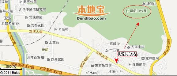 深圳塘朗山郊野公园交通地图