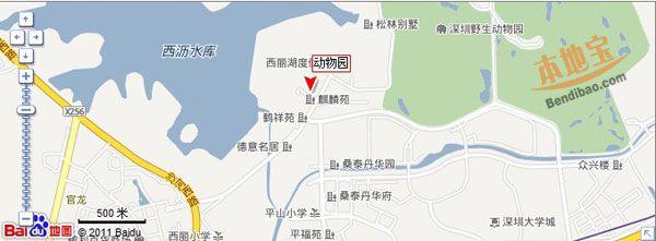 深圳野生动物园交通地图